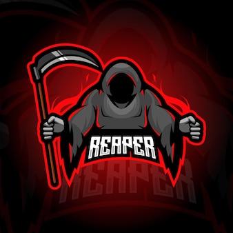 Diseño de logotipo de mascota reaper