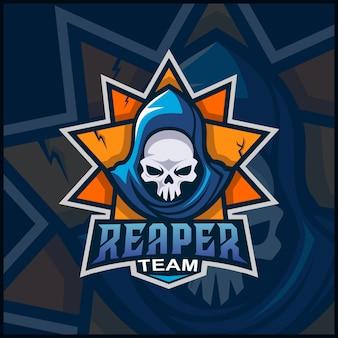 Diseño del logotipo de la mascota reaper