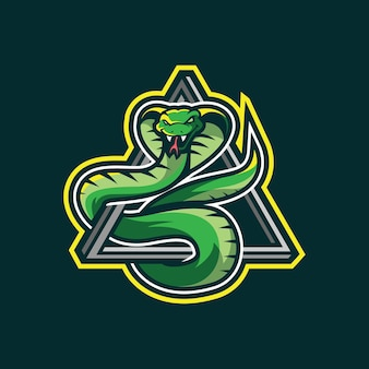 Diseño de logotipo de mascota serpiente