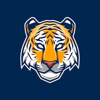 Diseño de logotipo de mascota tigre