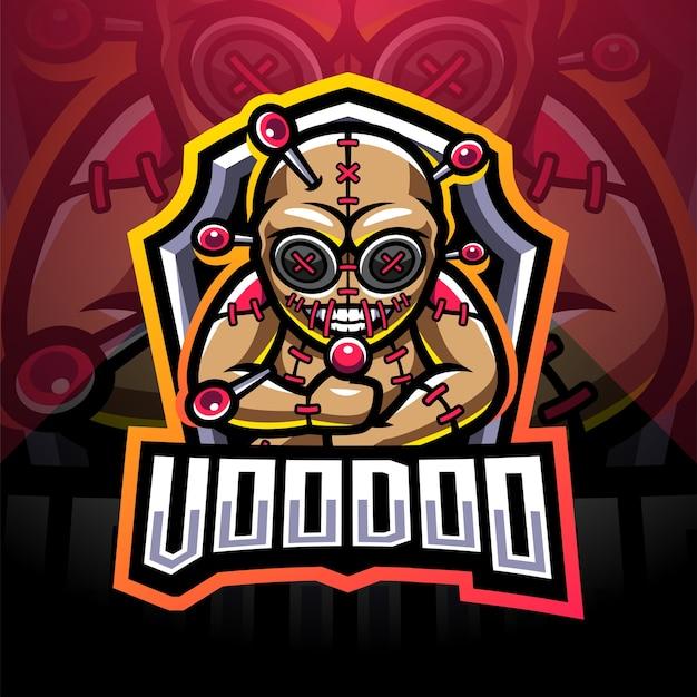 Diseño de logotipo de mascota voodoo esport