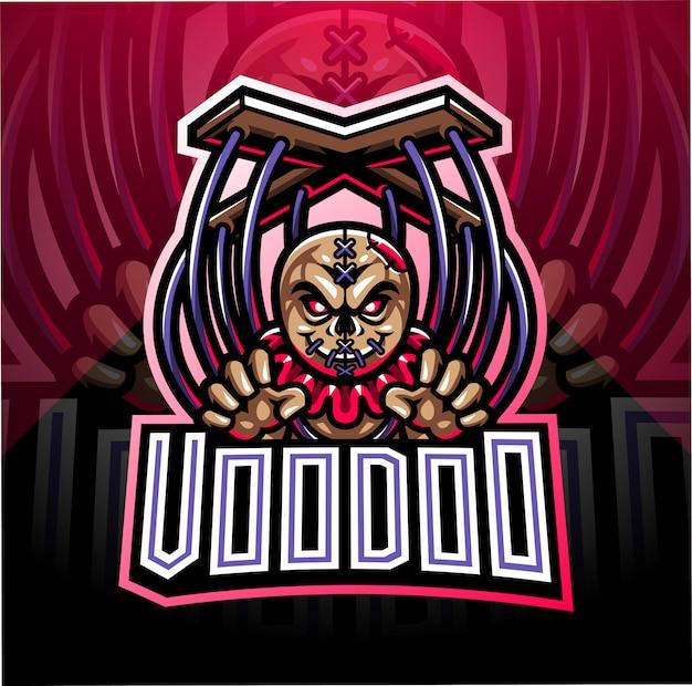 Diseño de logotipo de mascota de vudú esport
