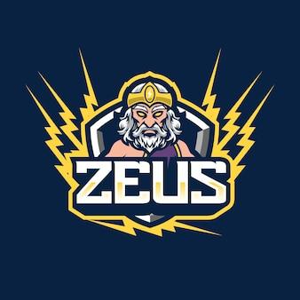 Diseño de logotipo de la mascota zeus