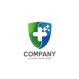 Diseño de logotipo médico escudo
