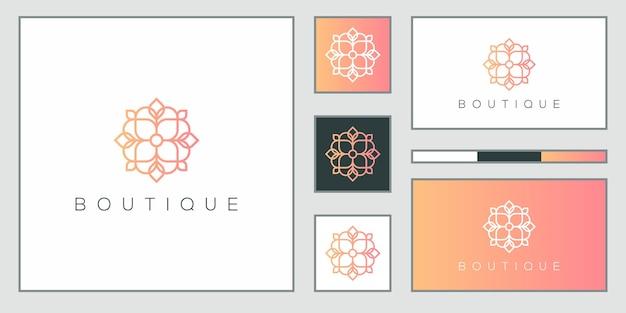 Diseño de logotipo minimalista elegante y tarjeta de visita.