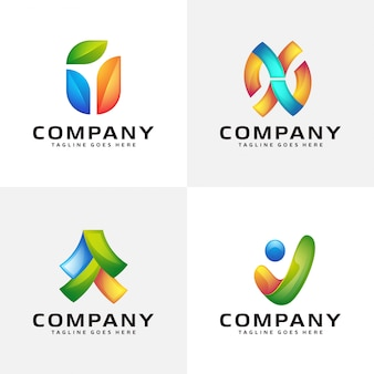 Diseño de logotipo moderno abstracto