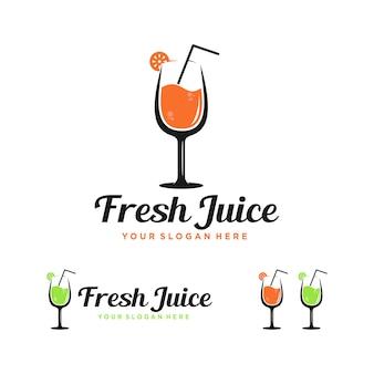 Diseño de logotipo moderno de zumo fresco