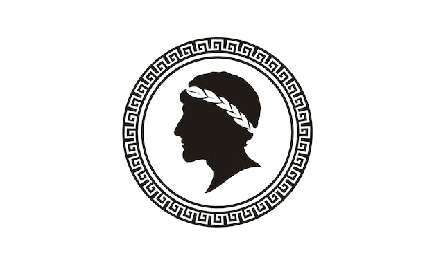 Diseño de logotipo de moneda griega antigua