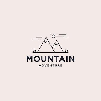 Diseño de logotipo de montaña abstracta