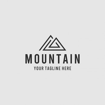 Diseño de logotipo de montaña minimalista creativo