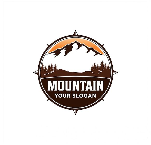 Diseño de logotipo de montaña