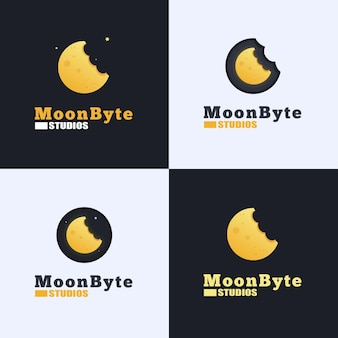 Diseño de logotipo de moon byte