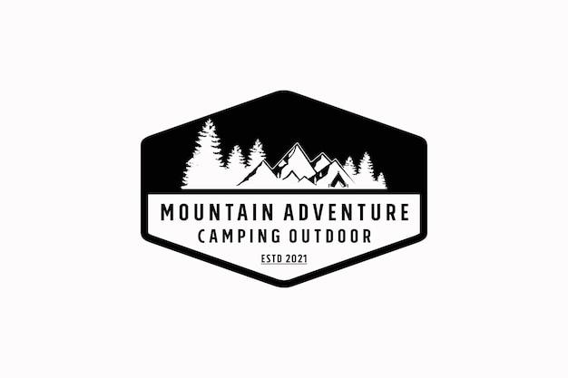 Diseño de logotipo mountain adventure outdoor wilderness