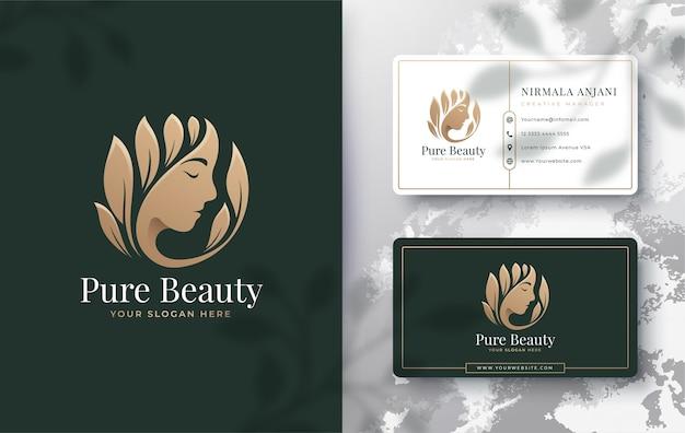 Diseño de logotipo de mujeres de belleza floral