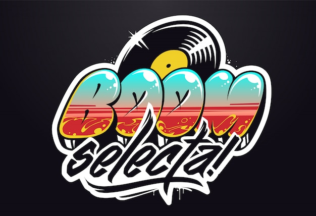 Diseño de logotipo musical. letras vectoriales de graffiti para logo musical.