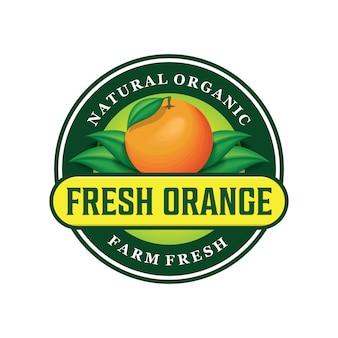 Diseño de logotipo naranja fresco