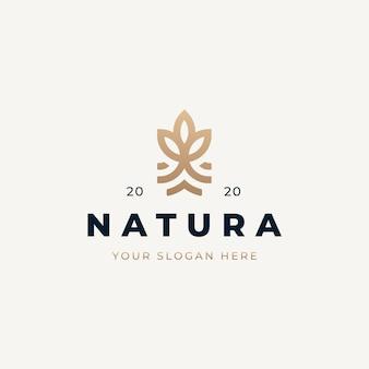 Diseño de logotipo natural vintage