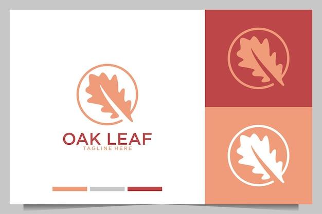 Diseño de logotipo de naturaleza de hoja de roble