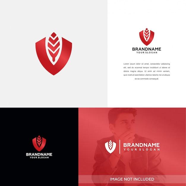 Diseño de logotipo de naturaleza jefe / empresario isnpiration