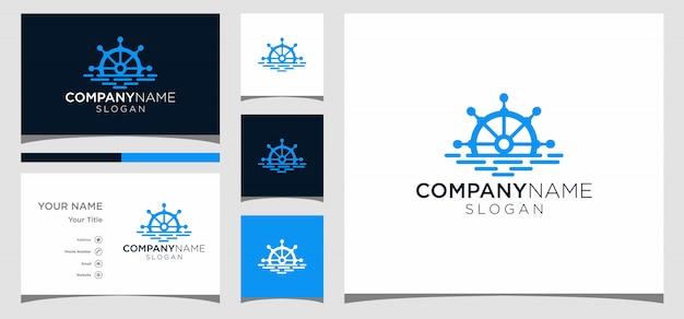 Diseño de logotipo de navy whell