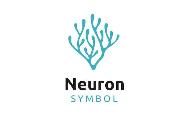 Diseño de logotipo de neurona / algas marinas