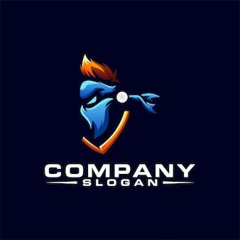 Diseño de logotipo ninja