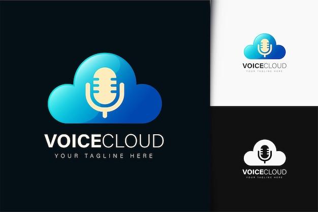 Diseño de logotipo de nube de voz con degradado.