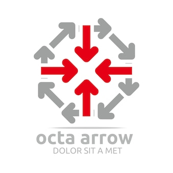 Diseño de logotipo de octa arrows