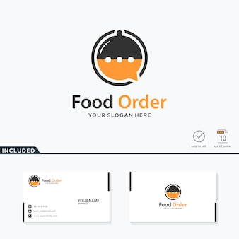 Diseño de logotipo de orden de comida