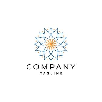 Diseño de logotipo de ornamento de mandala simple y de lujo