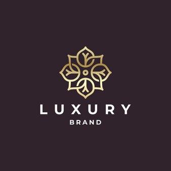 Diseño de logotipo de oro orgánico de marca de lujo