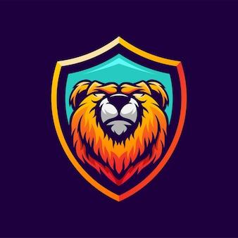 Diseño de logotipo oso impresionante
