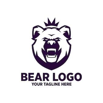 Diseño de logotipo de oso