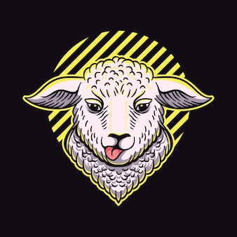 Diseño de logotipo de oveja