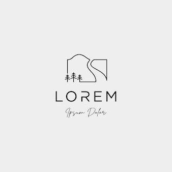Diseño de logotipo de paisaje para icono de vector de paisajismo