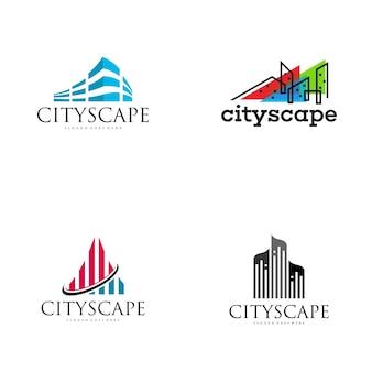 Diseño de logotipo de paisaje urbano