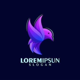 Diseño de logotipo de pájaro abstracto