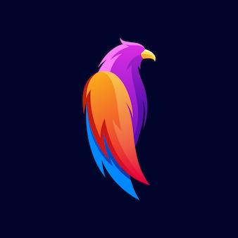 Diseño de logotipo de pájaro