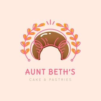 Diseño de logotipo de pastel de panadería