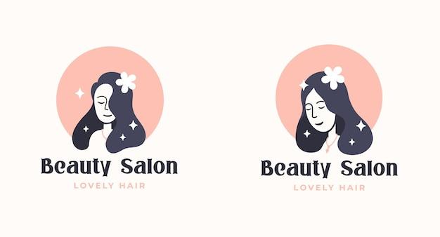 Diseño de logotipo de peluquería de mujer
