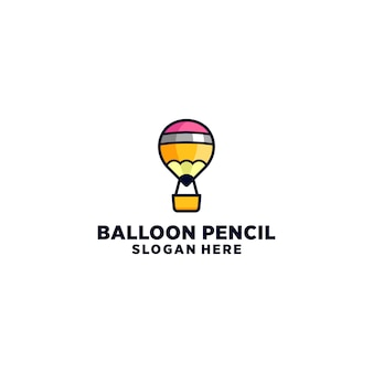 Diseño de logotipo pencil air ballon