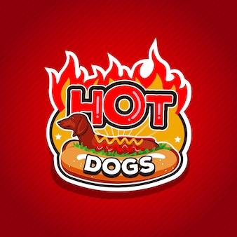Diseño de logotipo de perros calientes