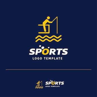 Diseño de logotipo de pesca