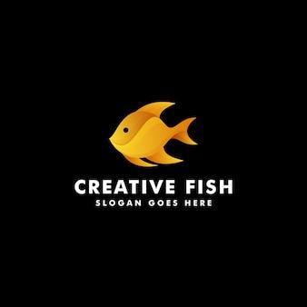 Diseño de logotipo de pescado. ilustración de símbolo de icono de animal