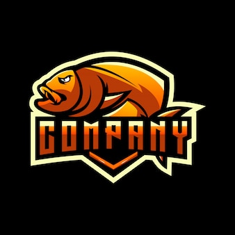 Diseño de logotipo de pescado