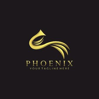 Diseño de logotipo de phoenix vector