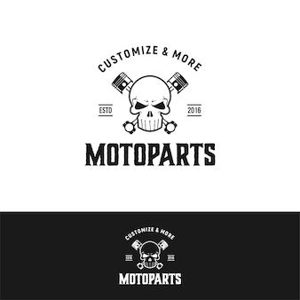 Diseño de logotipo de piezas de motor