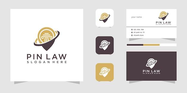 Diseño de logotipo de pin de ley