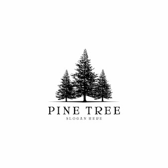 Diseño de logotipo de pino