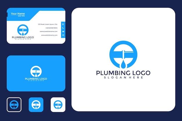 Diseño de logotipo de plomería y tarjeta de visita.